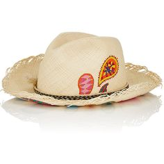 4782e79f0c0 Ibo Maraca Women s Indigo Hand-Painted Straw Panama Hat ( 450) ❤ liked on