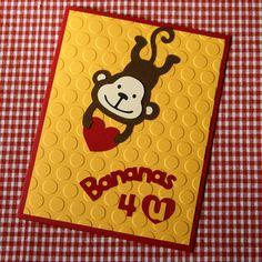 Bananas 4 U Valentine's Day card  Create a critter