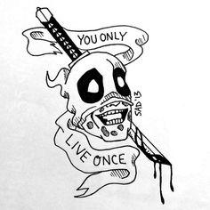 YOLO Deadpool Tattoo