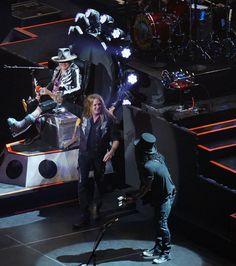 Axl Rose, slash and duff of Guns N' Roses with Sebastian Bach, T-Mobile Arena, Las Vegas, April 9, 2016  Photos by Nanci Sauder Ruest