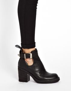 Bronx   Bronx Heeled Strap Ankle Boots at ASOS