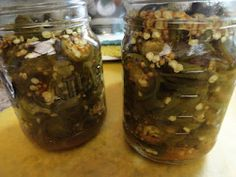 recipe for a sweet pickled jalapeno pepper called Cowboy Candy.I thought of Geno when I seen this. Candied Jalapenos, Pickled Jalapeno Peppers, Stuffed Jalapeno Peppers, Canning Peppers, Cowboy Candy, Good Food, Yummy Food, Yummy Yummy, Canning Recipes
