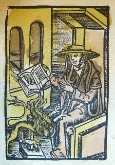 Woodcut of Saint Jerome by Penn Provenance Project, via Flickr