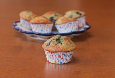 Quinoa blueberry lemon muffin
