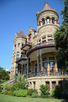 The Bishop's Palace (a.k.a. Gresham House) in Galveston, Texas, USA. The house was built from 1887 to 1892 for Colonel Walter Gresham and his wife Josephine. Designed by Nicholas Clayton, the style of this #Victorian house is best described as Chateausque given the intricate combination of materials, cast iron galleries, and complex roof system. Chateausque is a derivative of the French Revival style of #architecture popularized in the latter part of the 19th century.