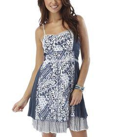 Joe Browns Women's Creative Crushed Dress Blue/White (14): Amazon.co.uk: Clothing