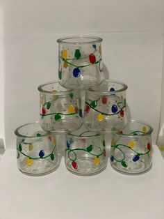 Crafts With Glass Jars, Small Glass Jars, Glass Tea Light Holders, Tealight Candle Holders, Candle Cups, Reuse Candle Jars, Jar Candles, Scented Candles, Painted Jars