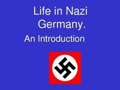 Life in Nazi Germany - An Introduction powerpoint with sources and questions.  Focus is on what was life like for different groups (Women, children, Jews) in Germany under the nazis using primary evidence.