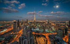 Burj Khalifa, Dubai, metropolis, the United Arab Emirates, skyscrapers