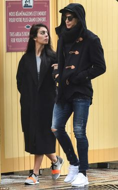 Cristiano Ronaldo puts on a street style display with stunning new girlfriend Georgina Rodriguez .