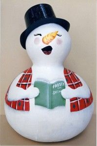 snowmen gourds | Painting Patterns-Christmas-The Fairy Gourdmother