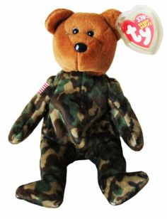 2003 TY Hero Beanie Babies 10 Year Anniversary Tag Army Excellent Condition