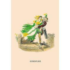 Buyenlarge Giroflee by J.J. Grandville Graphic Art Size: