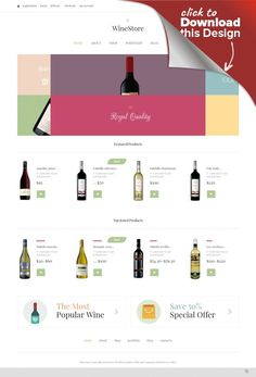 Wine for Your Delight WooCommerce Theme E-commerce Templates, WooCommerce Themes, Food & Restaurant, Drink, Wine Templates