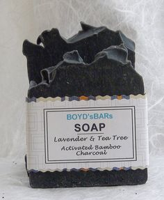 Tea Tree Lavender & Activated  Bamboo Charcoal Soap by BOYDsBARs