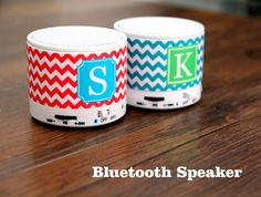 Teen Chevron Customize Monogram Wireless Bluetooth Mini Speaker Mini Bluetooth Speaker, Coffee Cans, Chevron, Projects To Try, Monogram, Mugs, Tableware, Teen, Food