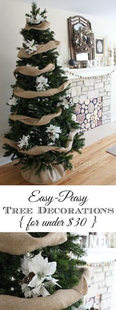 Easy DIY Christmas Tree Decorations - for under $30