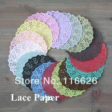 140pcs / Lot 4.5''DIY Cordón decorativo de papel tapetes de colores Flor Estilo ahuecado Coloque los accesorios del libro de recuerdos estera envío gratis(China (Mainland))
