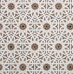 Entry - Floor area only. Villa D Oro, Granada by Walker Zanger. Ceramic Mosaic Tile, Stone Mosaic, Mosaic Glass, Floor Patterns, Tile Patterns, Textures Patterns, Stencil Patterns, Arabesque, Victorian Tiles