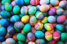 Traditional Easter eggs make at home