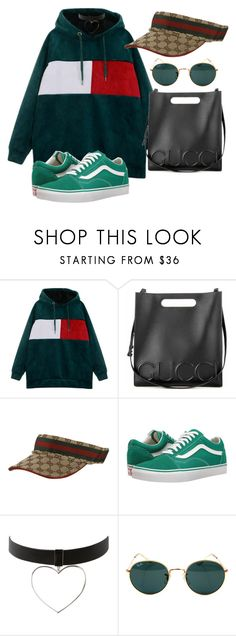 """Untitled #1187"" by wavvy-k ❤ liked on Polyvore featuring Gucci, Vans and Ray-Ban"