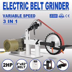 2 x 82 belt grinder, knife making, knife grinder, sander 1.5KW