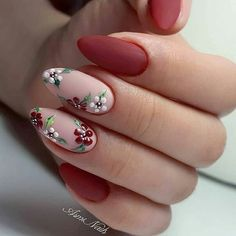 elegant autumn nail designs have to try - blackish green floral stiletto na. - elegant autumn nail designs have to try - blackish green floral stiletto nails inspo 17 ~ Modern House Design - Cute Acrylic Nails, Matte Nails, Pink Nails, Stiletto Nails, Coffin Nails, Nails Rose, Gradient Nails, Rainbow Nails, November Nails