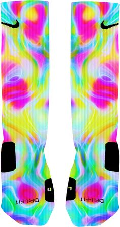 Colorfu Color Run Color Vibe Custom Nike Elite Socks