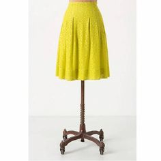 """HD in Paris skirt Tart Citron skirt by HD in Paris. Full silhouette in floral lace. Side zip, fully lined. Size 00P. Waist 13"""", length 18"""". Excellent condition. Anthropologie Skirts A-Line or Full"""