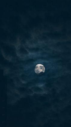 Moon Sky Dark Night Nature #iPhone #6 #plus #wallpaper