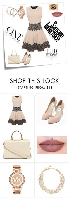"""#beautiful 9"" by emina-mehmedovic ❤ liked on Polyvore featuring moda, Post-It, Alexander McQueen, Nly Shoes, Nila Anthony, Michael Kors, Kate Spade y Accessorize"