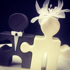 puzzle pieces cake topper