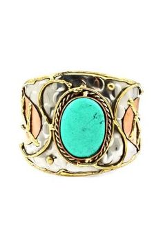 Turquoise Geneva Cuff by amchism