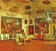 Walter Gay (American painter, 1856-1937) Villa Barbaro in Venice.