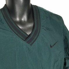 Nike Vtg Pullover V-Neck Windbreaker Jacket M Medium Green Pouch Pocket Man Clothes, Windbreaker Jacket, Nike Jacket, Baseball Hats, Pouch, V Neck, Pullover, Pocket, Medium