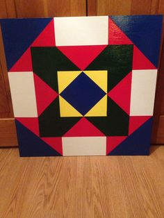 2 X 2 Barn quilt I made and sold for Casey & Marc's adoption fund!