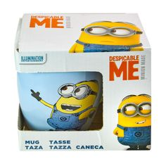 MINIONS 12 Ounce Coffee Mug Despicable Me Blue Movie Film Cartoon Gift Boxed Cup
