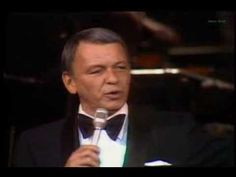 Frank Sinatra  at  Royal Festival Hall . 1970 .
