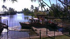Chittoor island palace boat entrance in Cochin, Kerala