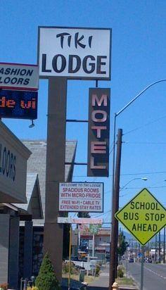 Tiki Lodge on old motel row