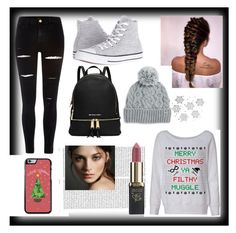 """""""Bez naslova #43"""" by selmi-554 ❤ liked on Polyvore featuring River Island, Converse, Rella, Oris, Burberry and L'Oréal Paris"""