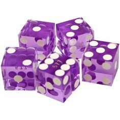 Trademark Poker 19mm A Grade Serialized Set of Casino Dice (Purple) by Trademark Global. $11.49. Precision casino dice are manufactured to exacting standards from high-quality plastic material that is free from defects. The spots on their faces are made flush to ensure there is no imbalance to the dice. These precision dice are made with straight, sharp edges and corners. Casinos choose to serialize their dice to keep the dice in sets so similar play time is used on ...