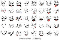 Icon Person Fun: vetores, imagens e arte vetorial stock | Shutterstock Cartoon Mouths, Cartoon Eyes, Cartoon Drawings, Cartoon Images, Easy Cartoon, Female Cartoon, Girl Cartoon, Smile Drawing, Mouth Drawing