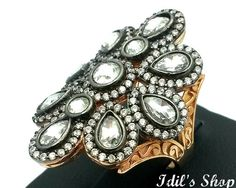 Ring Bague Anillo Turkish Ottoman Style Jewelry 925 Sterling Silver by IdilsShop