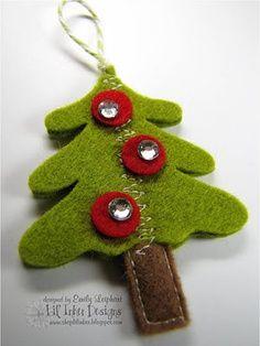 Adorno de fieltro para el árbol de Navidad