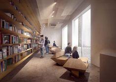 Kengo Kuma divulga projeto da Japan House em São Paulo,Sala multimídia. Image Cortesia de Divulgação