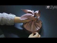 추석선물포장 - 보자기포장법, 둥근형태포장법_롤티앤 - YouTube