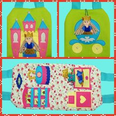 Soft doll case  Portable Dollhouse Dress up doll Travel Toy