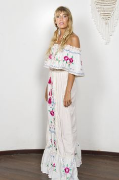"""""""Seeker Lover Keeper Nursing Dress"""" Embroidered Nursing Maxi Dress - Cross Stitch Fillyboo - Boho inspired maternity clothes online, maternity dresses, maternity tops and maternity jeans. Summer Holiday Dresses, White Dress Summer, White Maxi Dresses, Summer Dresses, Maternity Clothes Online, Maternity Tops, Maternity Dresses, Maternity Jeans, Nursing Dress"""