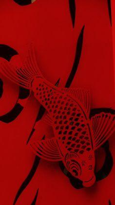 Koi in Red #goodcharma  #goodcharmastyle
